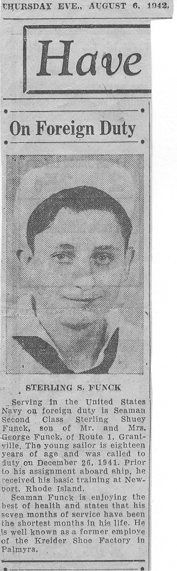 Funck, Sterling - Newspaper-Clipping-1942