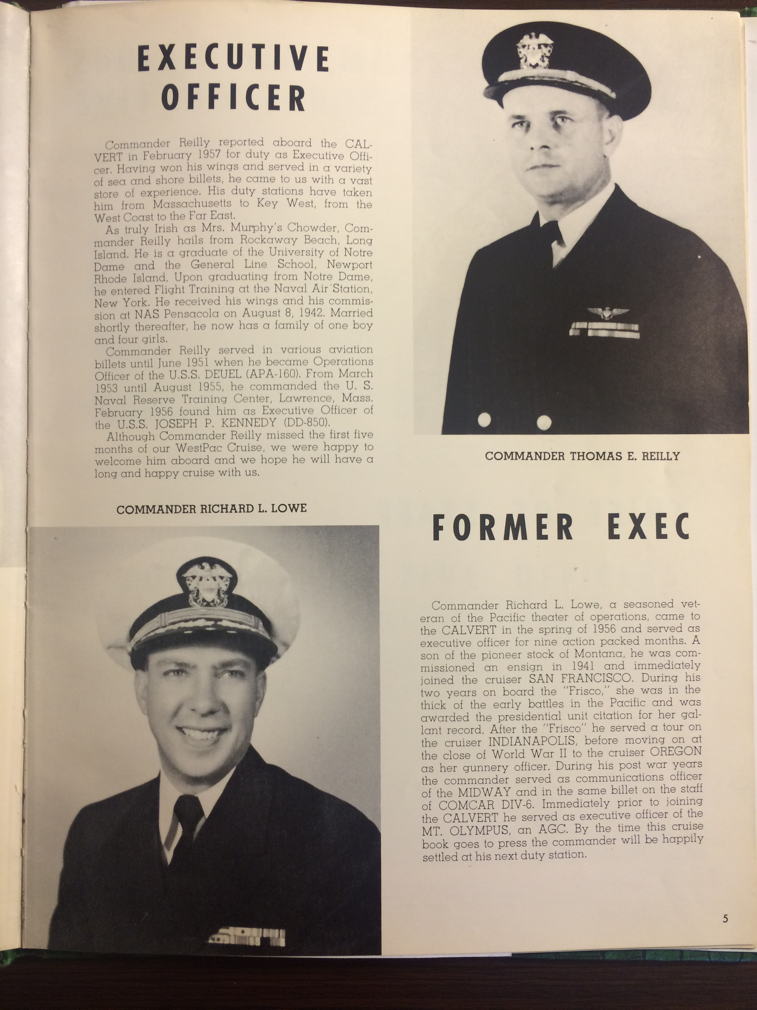 USS Calvert 1956 - Sixth Far East Cruise Book - 004