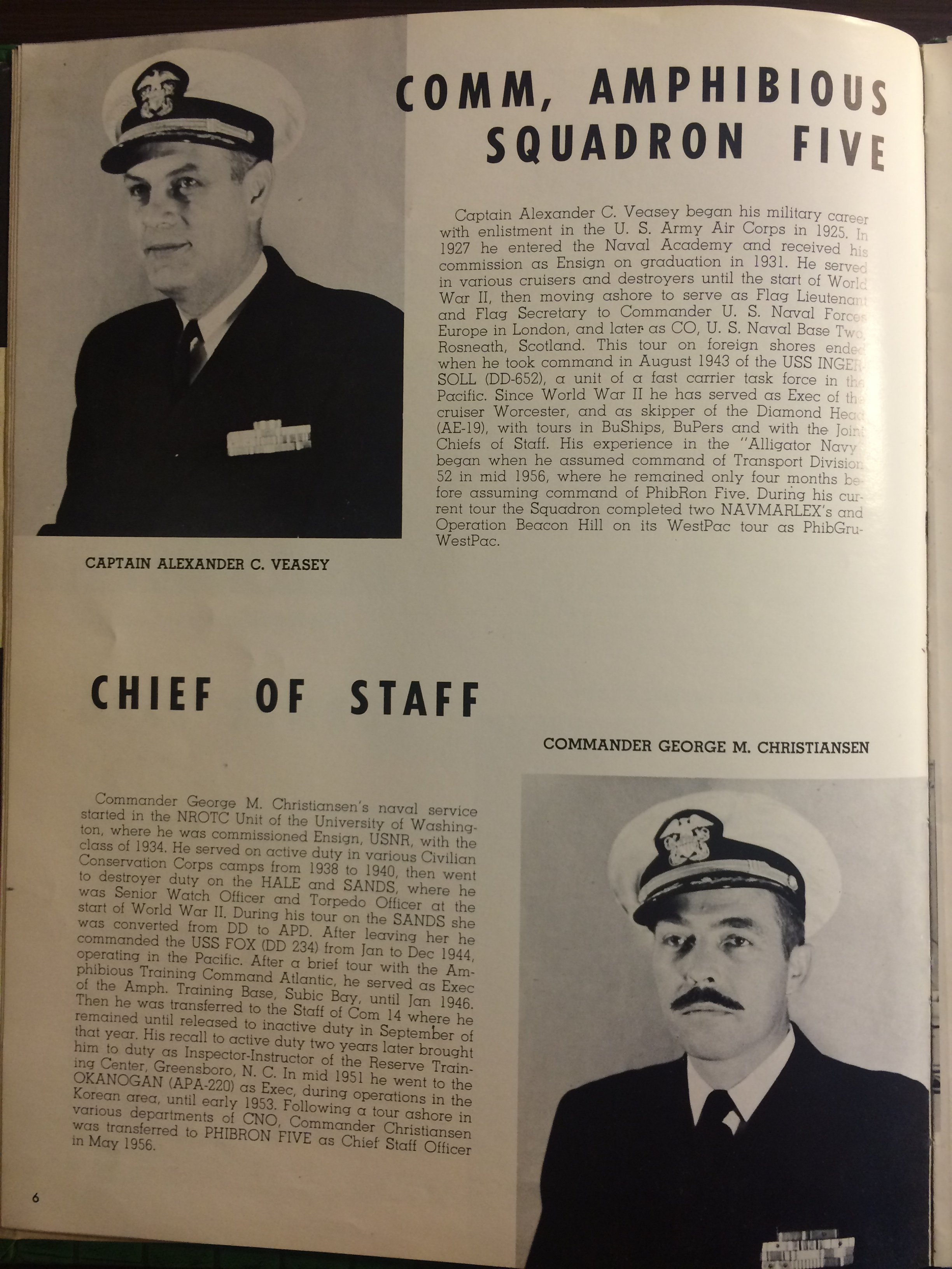 USS Calvert 1956 - Sixth Far East Cruise Book - 005