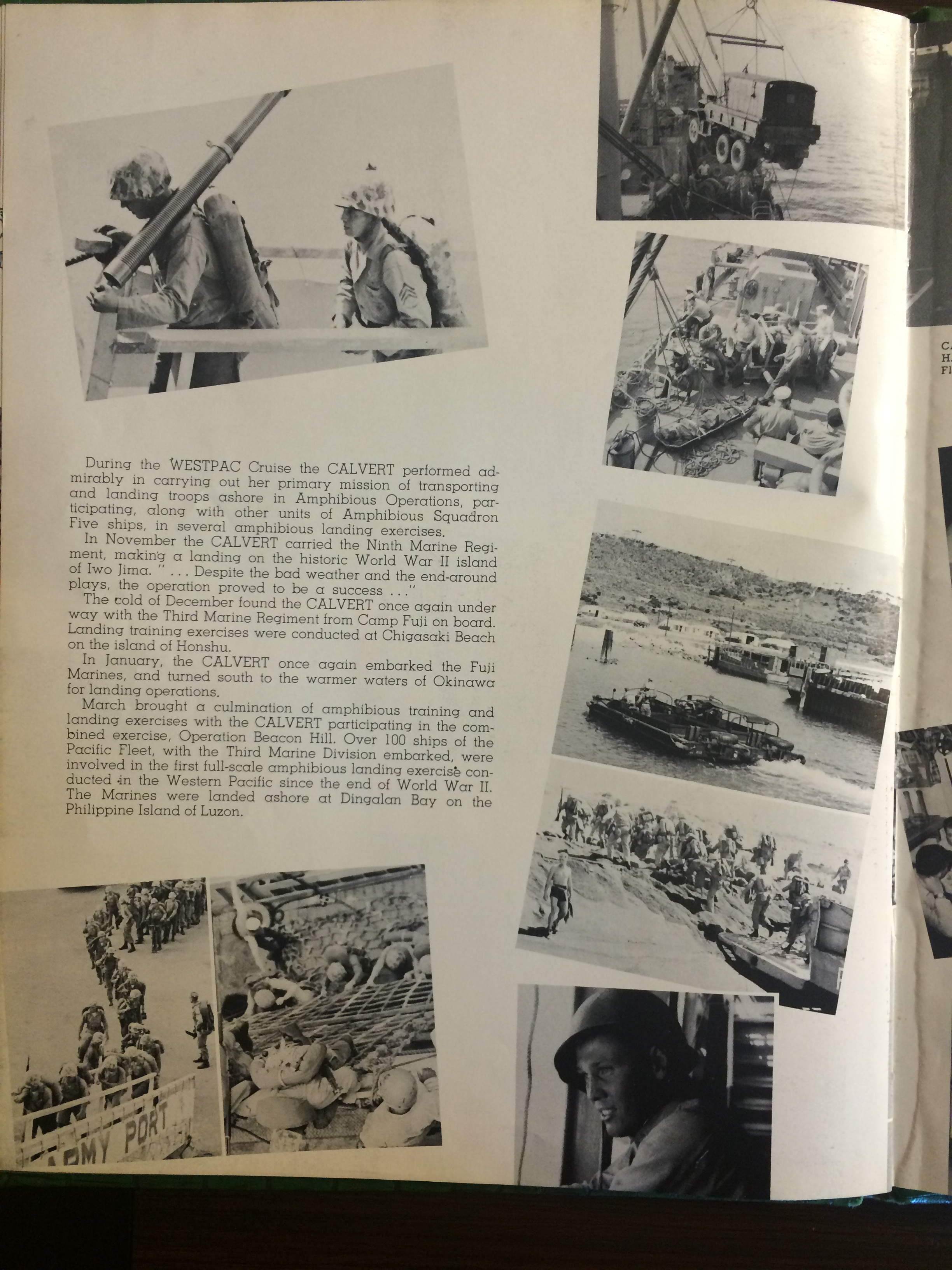 USS Calvert 1956 - Sixth Far East Cruise Book - 045