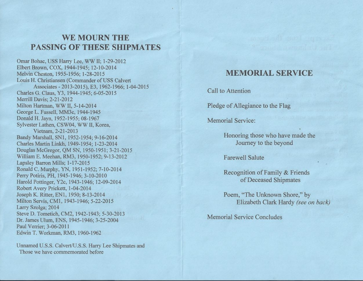 2015-Reunion Memorial Service Booklet - 02